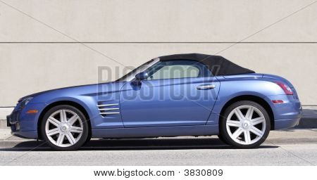 Blue Chrysler Convertible