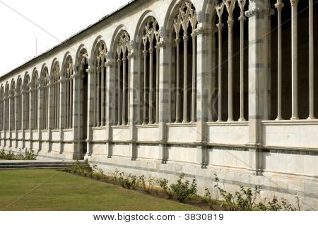 Isolated Monumental Cemetery Pisa Tuscany Italy