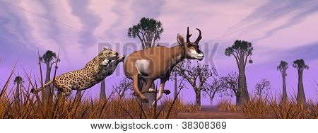 Hunting Scene In The Nature