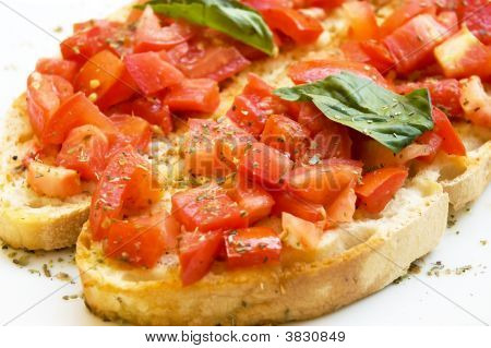 Fresh Bruschetta Chopped Tomato Basil