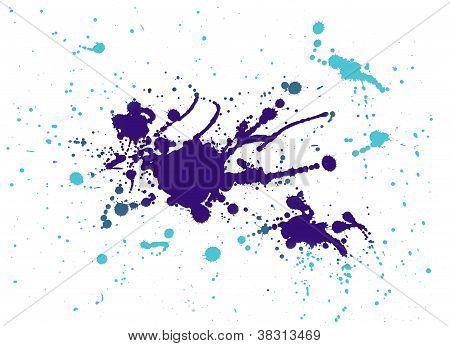 Purple And Light Blue Splash Painting