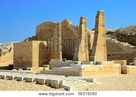The Ruins Of The Temple At Saqqara, Egypt