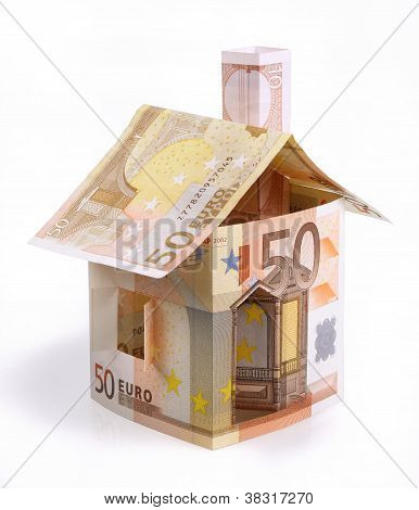 House Of Fifty Euro Bills