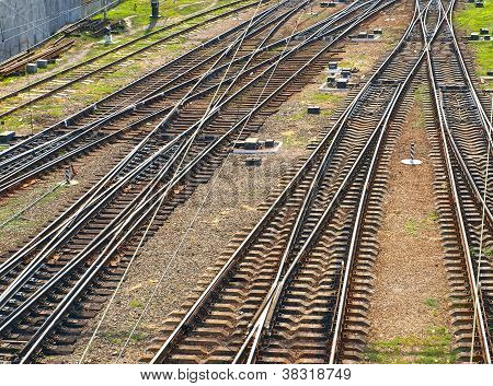 Railroad Tracks. Top View.