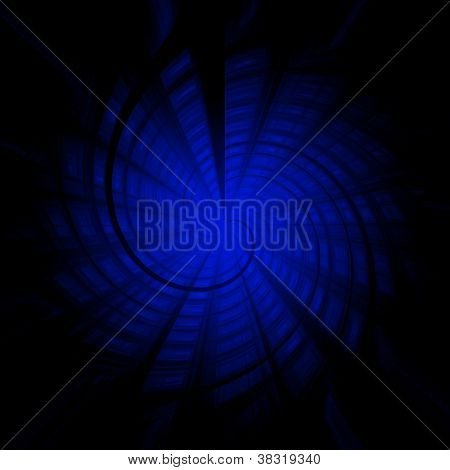 Dark Blue Abstract Color Twisted Background