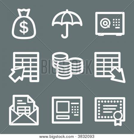 White Banking Web Icons V2
