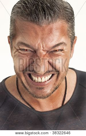 Angry Man With Red Eyes
