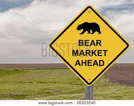 Caution Sign - Bear Market Ahead