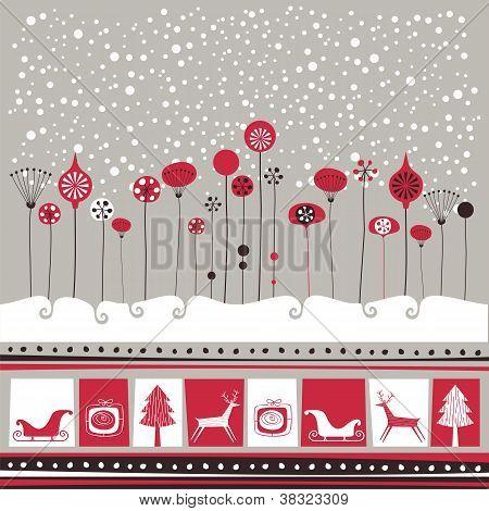 Dekorative Winter-Hintergrund