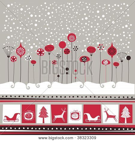 Decorative Winter Background