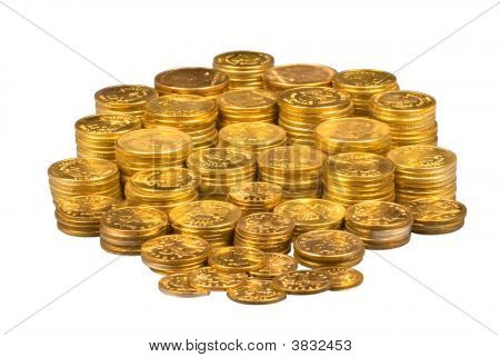 Group Of Gold Coins