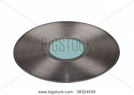 Gramophone Record On White
