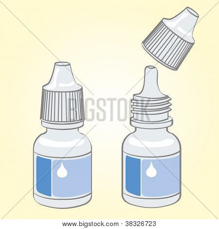 eye drops vector
