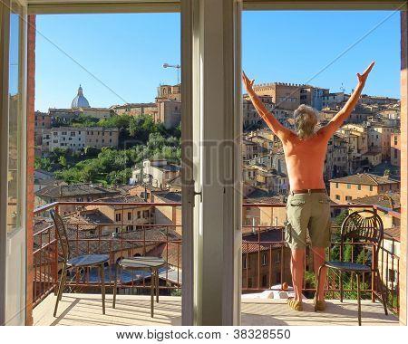 Yoga on the Balcony