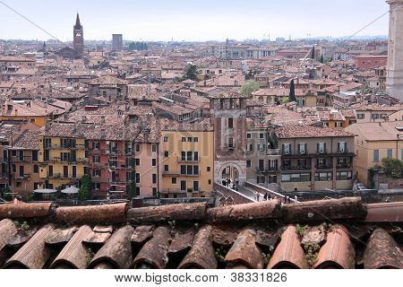 Overlooking The Old Town Of Verona