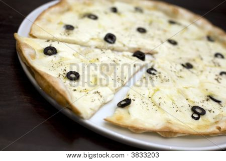 Halloumi Cheese And Black Olives Pizza