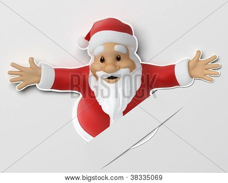 Santa cut out of paper