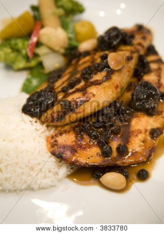 Honey Glazed Roasted Chicken Breast With Dried Fruit