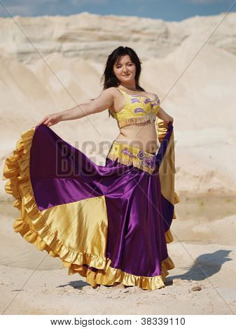 Dancer In Violaceous Dress