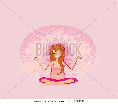 Yoga For Pregnant young Woman
