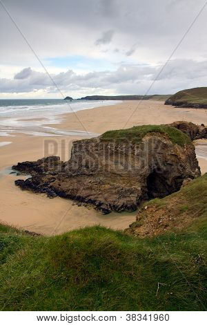 Perranporth beach Cornwall England UK about  6 miles from Newquay and Truro