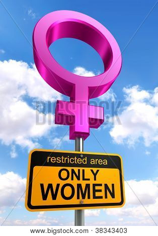Women Only Area Road Sign