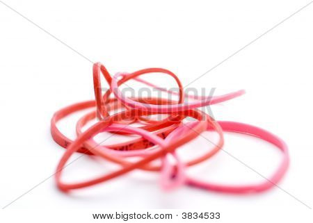 Shallow Focus Macro Of Elastic Bands