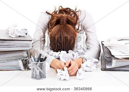 Business Woman With Ringbinders