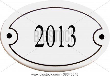 Doorplate With Number 2013