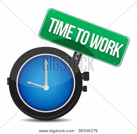 Time To Work Concept