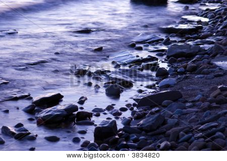 Tranquil Blue Rocks