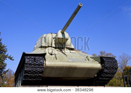 Tank At The Soviet War Memorial In Berlin