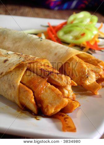 Mexican Hot Chicken Burritos