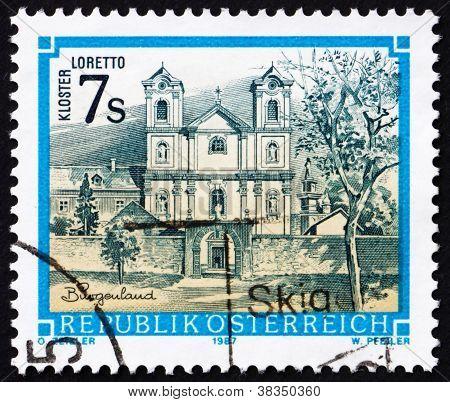 Postage stamp Austria 1987 Loretto Monastery, Burgenland