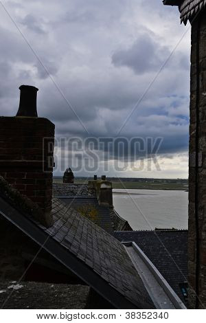 View from Mont St Michel