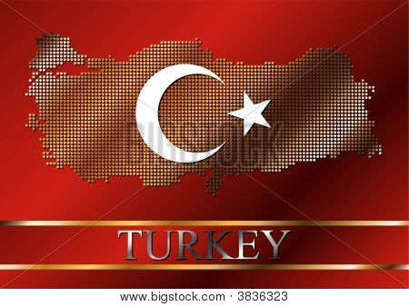 Bandera de Turquía punteado