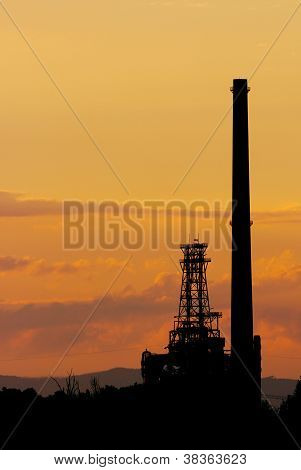 Sunset on a refinery