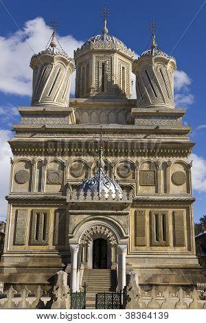 Entrance of Curtea de Arges Monastery