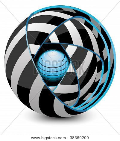 abstraction ball vector