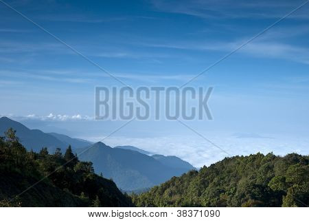Amazing Sea Of Fog In Intanont National Park, Thailand