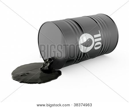 Oil Is Spilling From The Barrel