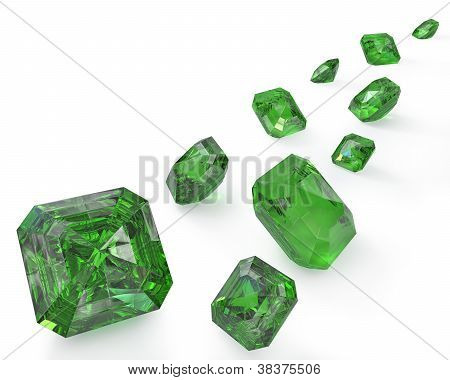 Path Of Green Emeralds