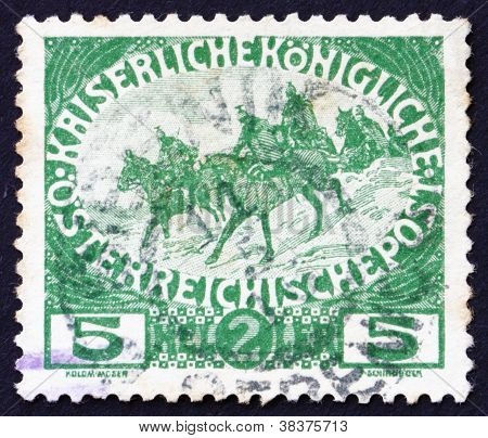Postage stamp Austria 1915 Cavalry
