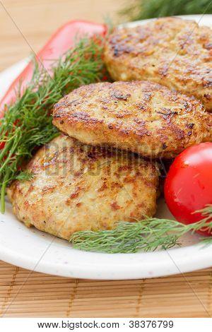 Fried meatballs close-up