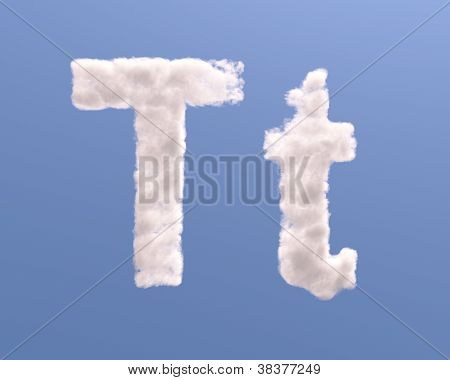 Letter T Cloud Shape
