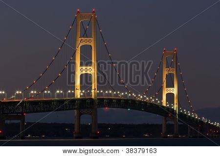 Big Mackinac Bridge Evening