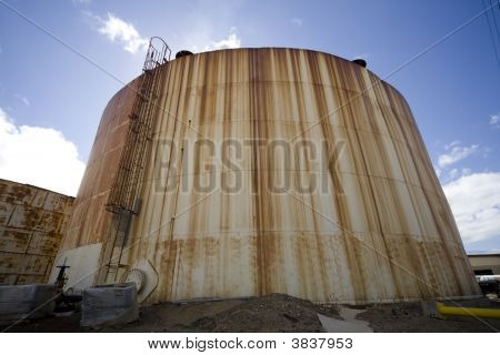 Rusted Manufacturing Tank