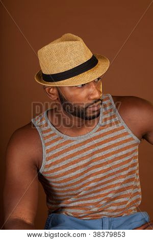 Black man in casual outfit