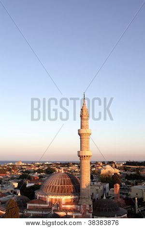 Suleiman Mosque In Sunset