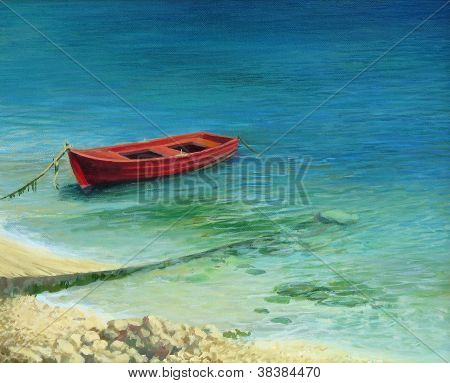 Fishing Boat In Island Corfu